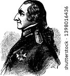 Count Rumford 1753 to 1814 he was an American physicist and inventor vintage line drawing or engraving illustration