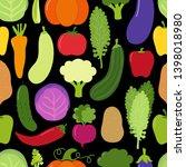 cute eat veggies seamless... | Shutterstock .eps vector #1398018980