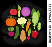 cute vegan menu background as...   Shutterstock .eps vector #1398018986