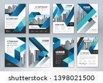 set of annual report brochure...   Shutterstock .eps vector #1398021500
