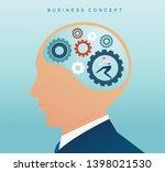 businessman with cogs wheel in...   Shutterstock .eps vector #1398021530