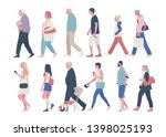 the profile of various people... | Shutterstock .eps vector #1398025193