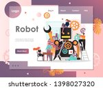 robot vector website template ... | Shutterstock .eps vector #1398027320