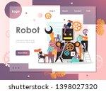 robot vector website template ... | Shutterstock .eps vector #1398027320