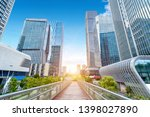 overpasses and modern buildings ... | Shutterstock . vector #1398027890