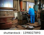 steel structure factory ... | Shutterstock . vector #1398027893