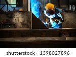 workers at work  ongoing... | Shutterstock . vector #1398027896