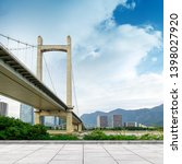 modern bridge against the... | Shutterstock . vector #1398027920