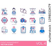 event management icons... | Shutterstock .eps vector #1398033479