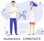 veterinary concept with animal... | Shutterstock .eps vector #1398076373