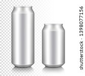 realistic aluminum can set ... | Shutterstock .eps vector #1398077156