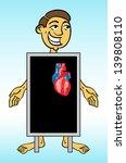 roentgen x ray heart   Shutterstock .eps vector #139808110