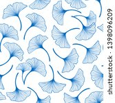 seamless pattern with blue... | Shutterstock .eps vector #1398096209