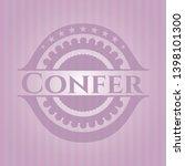 confer pink emblem. vector... | Shutterstock .eps vector #1398101300