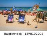 tel aviv  israel. may 11  2019. ... | Shutterstock . vector #1398102206