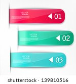 set of bookmarks  stickers ... | Shutterstock .eps vector #139810516