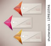 colorful bookmarks and arrows... | Shutterstock .eps vector #139810546