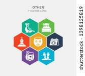 simple set of zambie hand ... | Shutterstock .eps vector #1398125819