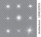 glow light effect. vector... | Shutterstock .eps vector #1398132923