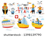 sailors team. nautical hand... | Shutterstock .eps vector #1398139790