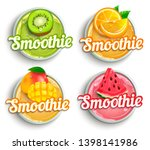 set of kiwi  orange mango...   Shutterstock .eps vector #1398141986