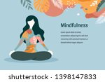 mindfulness  meditation and... | Shutterstock .eps vector #1398147833