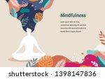 mindfulness  meditation and...   Shutterstock .eps vector #1398147836