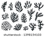 vector set of corals... | Shutterstock .eps vector #1398154103