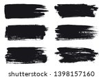 black brush stroke banners... | Shutterstock .eps vector #1398157160