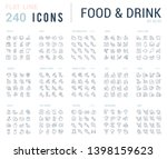 big collection of linear icons. ... | Shutterstock . vector #1398159623