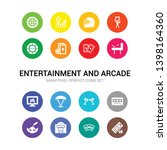 16 entertainment and arcade... | Shutterstock .eps vector #1398164360