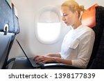 attractive caucasian female...   Shutterstock . vector #1398177839