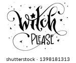 modern hand drawn script style... | Shutterstock .eps vector #1398181313