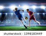 little soccer champions. mixed...   Shutterstock . vector #1398183449