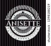 anisette silver badge or emblem.... | Shutterstock .eps vector #1398188219