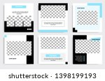 editable square abstract... | Shutterstock .eps vector #1398199193