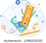 vector transportation tickets... | Shutterstock .eps vector #1398220250