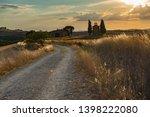 way to capella vitaleta  val d... | Shutterstock . vector #1398222080