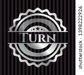 turn silver emblem. vector... | Shutterstock .eps vector #1398222926