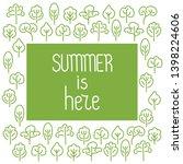 summer is here . doodle hand... | Shutterstock .eps vector #1398224606