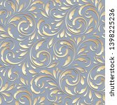 floral seamless pattern. white... | Shutterstock .eps vector #1398225236