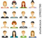 user icons in vector  represent ... | Shutterstock .eps vector #139822780