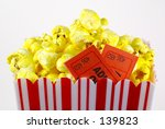 popcorn and admission tickets | Shutterstock . vector #139823