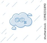 blue co2 emissions in cloud... | Shutterstock .eps vector #1398231890
