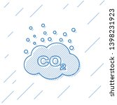 blue co2 emissions in cloud... | Shutterstock .eps vector #1398231923