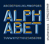 abstract alphabet font. type... | Shutterstock .eps vector #1398235949