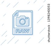 blue raw file document icon....   Shutterstock .eps vector #1398240053