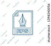 blue eps file document icon.... | Shutterstock .eps vector #1398240056