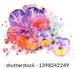 Pansies. Colorful Decorative...