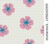 tropical flowers seamless... | Shutterstock .eps vector #1398242909